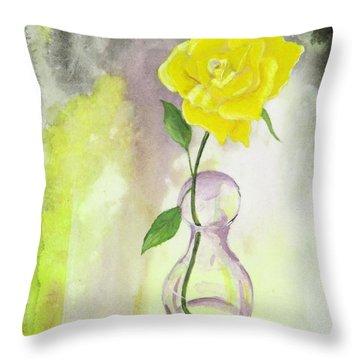 Texas Rose Throw Pillow