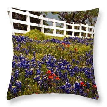 Texas Spring Throw Pillow by Brian Kerls