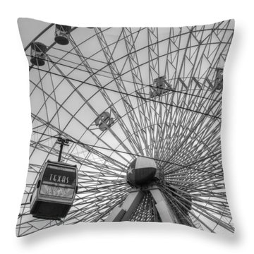 Texas Star Ferris Wheel Throw Pillow