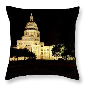 Throw Pillow featuring the photograph Texas State Capitol by Dave Files