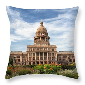 Texas State Capitol II Throw Pillow