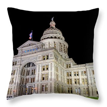 Texas State Capitol Throw Pillow by Tim Stanley