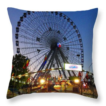 Texas State Fair Throw Pillow