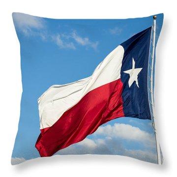 State Flag Of Texas Throw Pillow