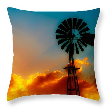 Texas Sunrise Throw Pillow by Darryl Dalton