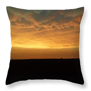 Throw Pillow featuring the photograph Texas Sunset by Ed Sweeney