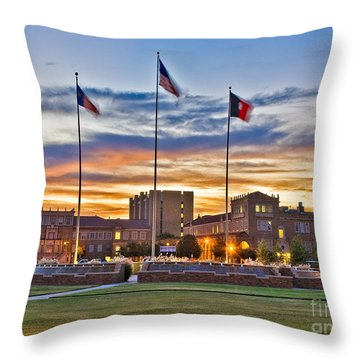 Throw Pillow featuring the photograph Memorial Circle At Sunset by Mae Wertz