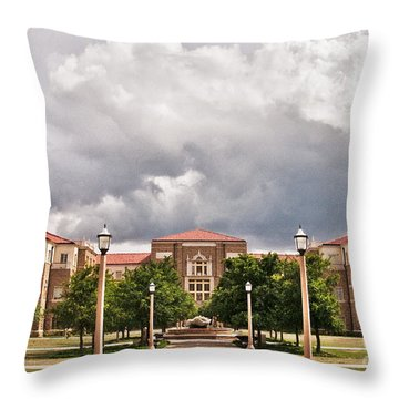 Throw Pillow featuring the photograph School Of Education by Mae Wertz