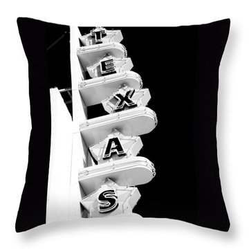 Texas Theater Throw Pillow by Darryl Dalton
