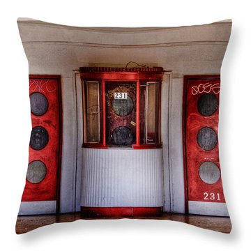 Texas Theater Throw Pillow by David and Carol Kelly