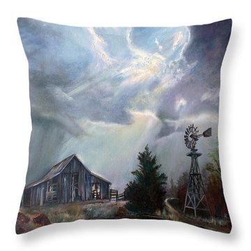 Texas Thunderstorm Throw Pillow