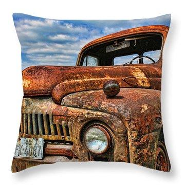 Throw Pillow featuring the photograph Texas Truck by Daniel Sheldon