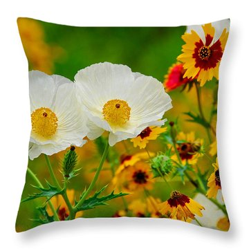 Texas Wildflowers Throw Pillow