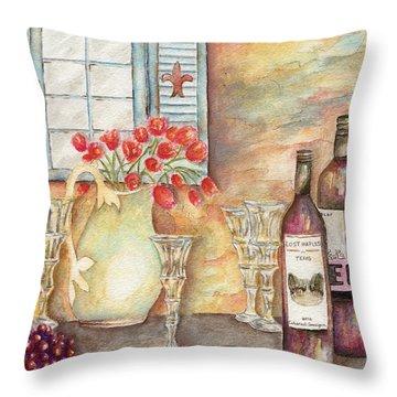 Texas Wine Throw Pillow by Tamyra Crossley