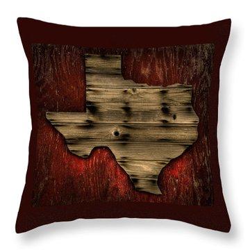 Texas Wood Throw Pillow