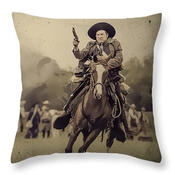 Texican Cavalry Throw Pillow