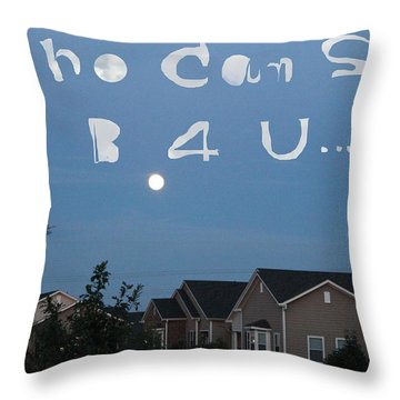 Text In Heaven Throw Pillow by Lorna Maza