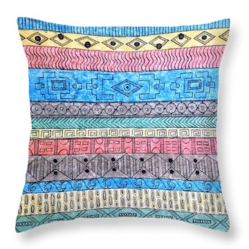 Throw Pillow featuring the painting Textile #1 by Rebecca Davis