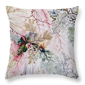 Textile Design Throw Pillow by William Kilburn