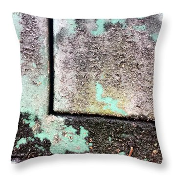 Green Box 3 Throw Pillow
