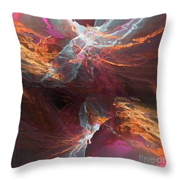 Throw Pillow featuring the digital art Texture Splash by Margie Chapman