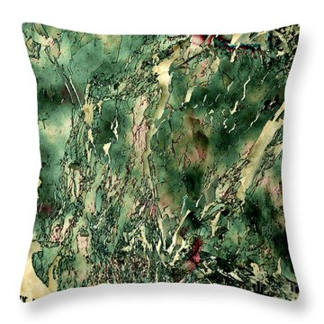 Textured Abstraction Throw Pillow