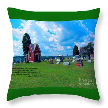 Throw Pillow featuring the photograph Fryburg Cemetery by Gena Weiser