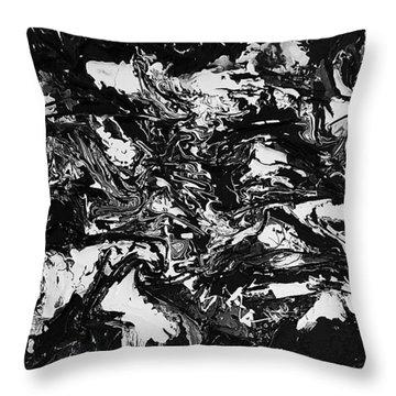 Textured Black And White Series 1 Throw Pillow