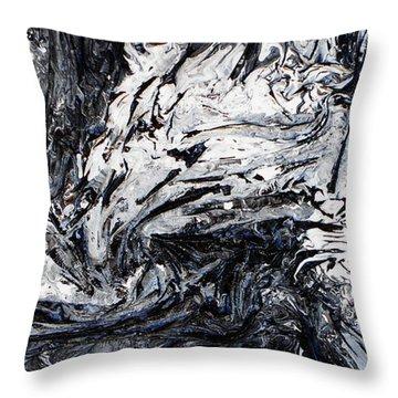 Textured Black And White Series 2 Throw Pillow