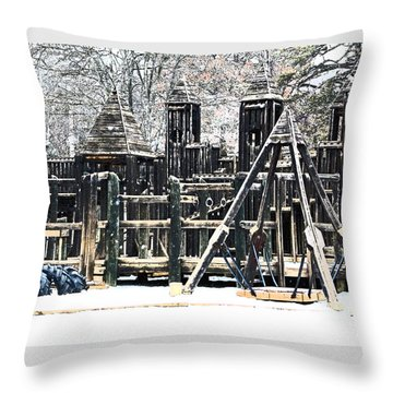 Throw Pillow featuring the photograph Textured Children Will Play by Gena Weiser