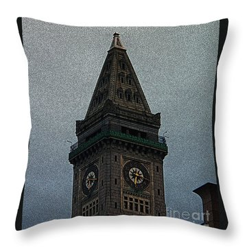 Throw Pillow featuring the photograph Textured Church Steeple  by Gena Weiser