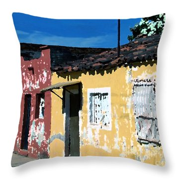 Textured - City In Mexico Throw Pillow