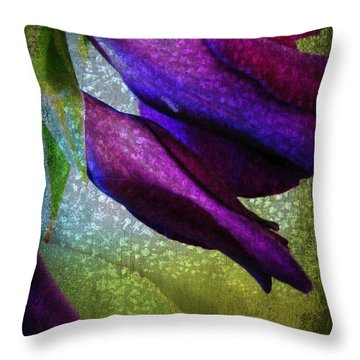 Textured Gladiola Buds Throw Pillow by Shirley Sirois