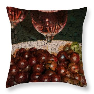 Textured Grapes Throw Pillow