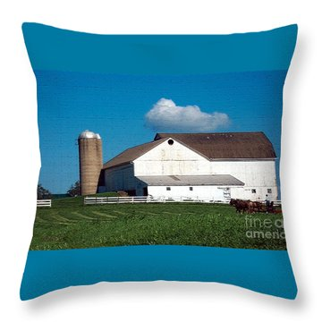 Throw Pillow featuring the photograph Textured - Plowing The Field by Gena Weiser