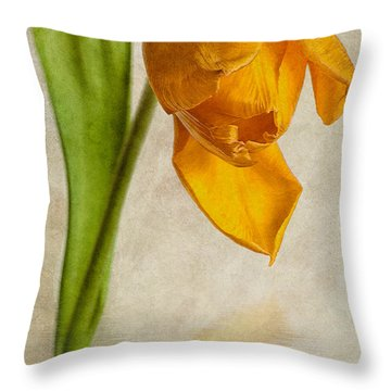 Textured Tulip Throw Pillow by John Edwards
