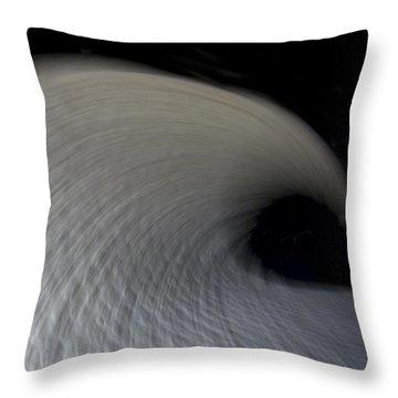 Textured Vortex Throw Pillow by Sean Davey