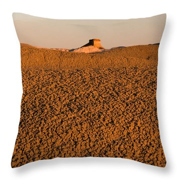 Textures In The Bisti Wilderness Throw Pillow by Vivian Christopher