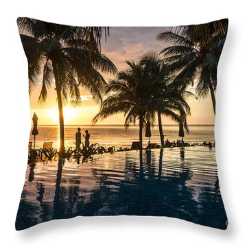 Thai Sunset Throw Pillow