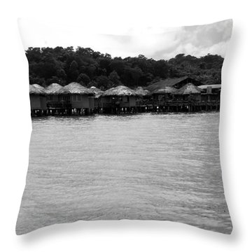Throw Pillow featuring the photograph Thai Village by Andrea Anderegg