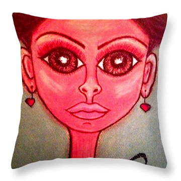 Thais Throw Pillow by Chrissy  Pena