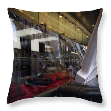 Thames Link Station Throw Pillow by Shirley Mitchell