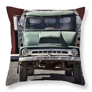 Thames Trader Vintage Truck Throw Pillow by Douglas Barnard