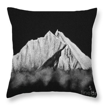 Throw Pillow featuring the painting Thamserku  by Rudi Prott