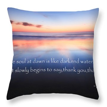 Thank You Throw Pillow by Bill Wakeley