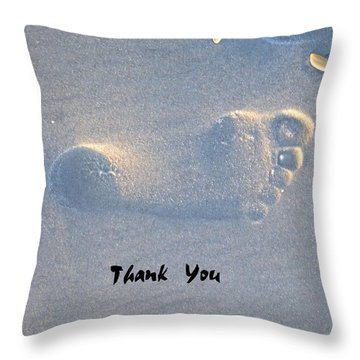 Throw Pillow featuring the photograph Thank You by Jocelyn