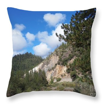 Clouds Of Hearts Throw Pillow