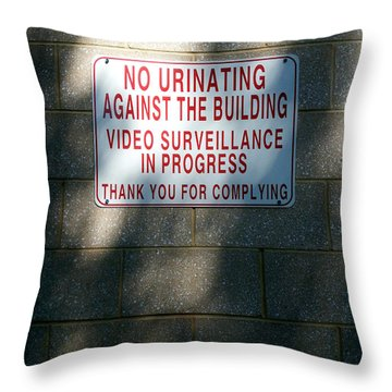 Thank You For Complying Throw Pillow by Lon Casler Bixby