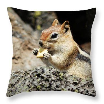 Thank You For The Cracker Throw Pillow by VLee Watson