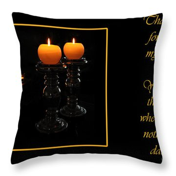 Throw Pillow featuring the photograph Thank You  by Randi Grace Nilsberg